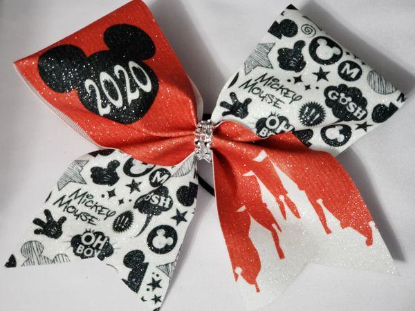 Mickey 2020 Glitter Vinyl Cheer Bow - clearance