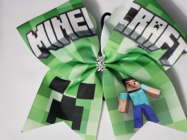 Minecraft Ribbon Cheer Bow - clearance