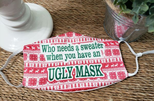 Ugly Sweater Satin Face mask