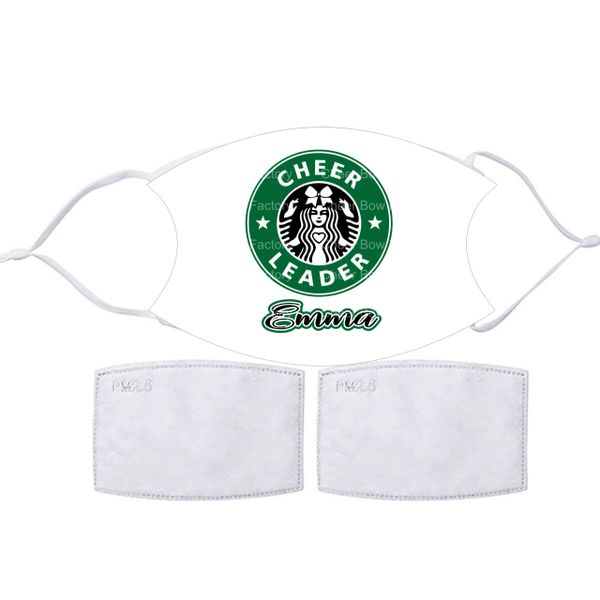 Personalized Cheerleader Starbucks Face mask
