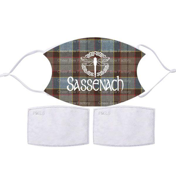 Sassenach Outlander Inspired Face mask