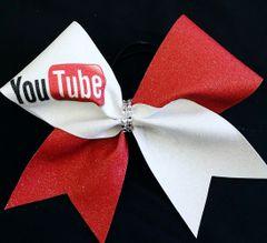 You Tube Social Media Cheer Bow