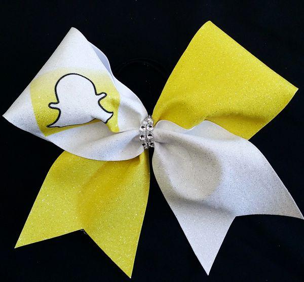Snapchat Social Media Cheer Bow