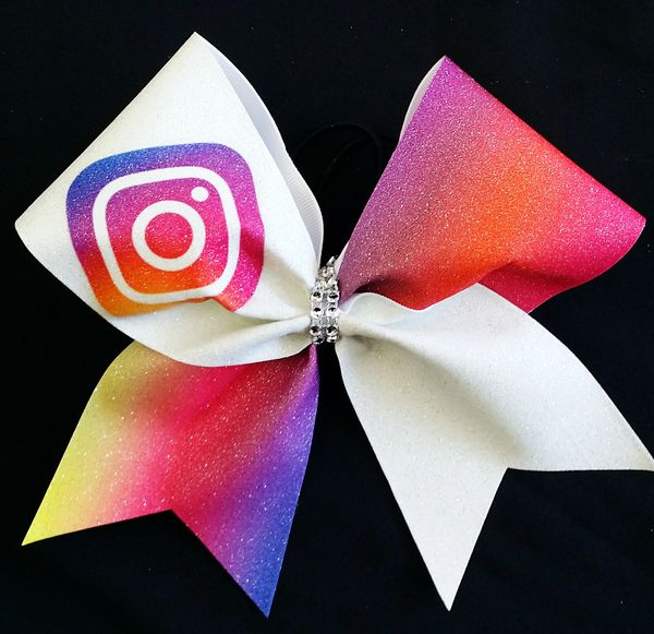 Instagram Social Media Cheer Bow