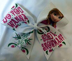 Frozen Anna Cheer Bow