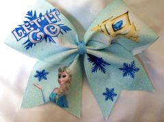 Frozen Elsa Let It Go Cheer Bow