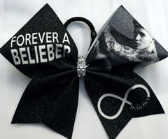 Just Beiber Belieber Cheer Bow