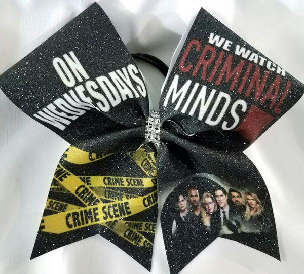 Criminal Minds Glitter Cheer Bow