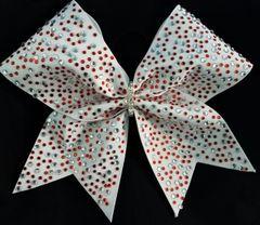 Crystal & Red Multi Size Rhinestone Cheer Bow