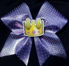 3D Crown Emoji Rhinestone Cheer Bow