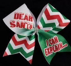 Dear Santa I Can Explain Cheer Bow