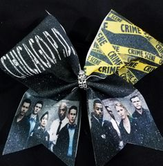 Chicago PD Glitter Cheer Bow