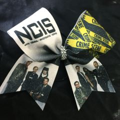 NCIS Glitter Cheer Bow