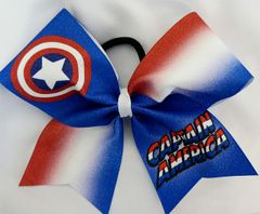 Captain America Cheer Bow