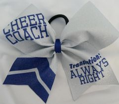 Cheer Coach Translation Always Right Cheer Bow