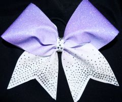 Falling Rhinestone Ombre Glitter Cheer Bow - all colors