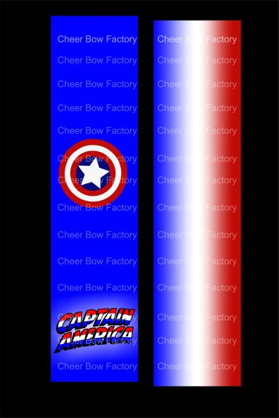 Captain America Cheer Bow Ready to Press Sublimation Graphic