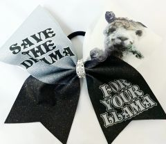 Save the Drama for your Llama Cheer Bow