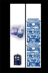 Dr. Who Cheer Bow Ready to Press Sublimation Graphic
