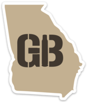 Georgia Brass Stickers
