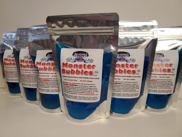 (6) Monster Bubbles Super Concentrate Soap Bubble Solution