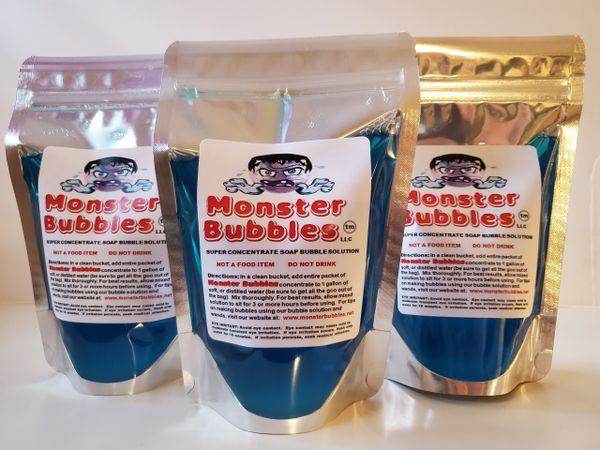 (3) Monster Bubbles Super Concentrate Soap Bubble Solution