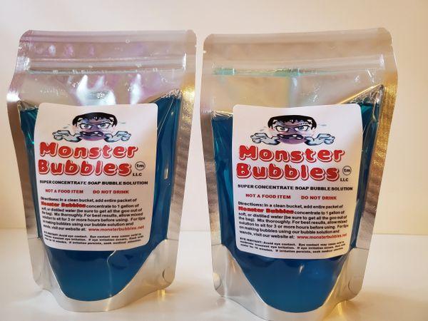 (2) Monster Bubbles Super Concentrate Soap Bubble Solution