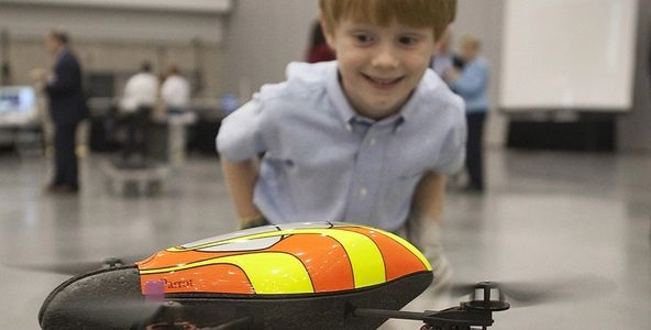 Kids code drones. Program aviation flight plans and exciting combat missions.