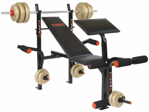 YORK BARBELL B114 ADJUSTABLE BENCH ITEM #4965