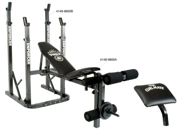 YORK BARBELL ENFORCER ADJUSTABLE BENCH 9600A ITEM #4148