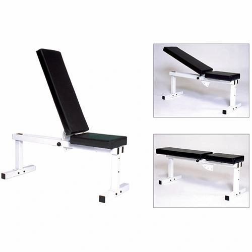 YORK BARBELL PRO SERIES 205 WHITE FLAT ADJUSTABLE INCLINE BENCH PRESS ITEM #4223