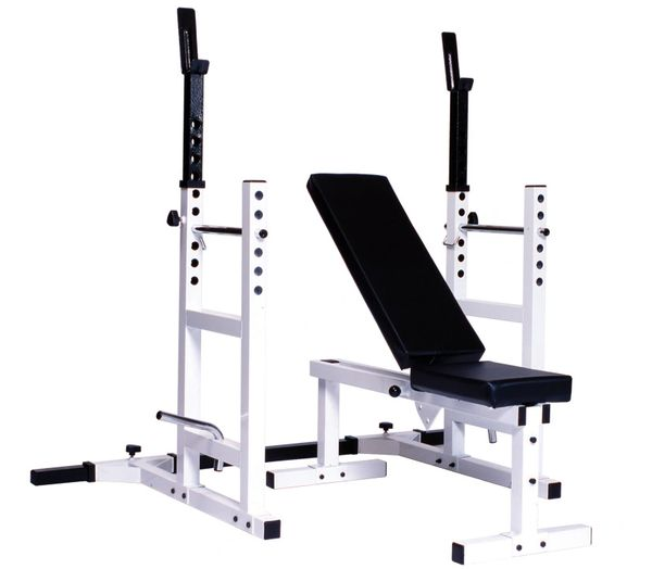 YORK BARBELL PRO SERIES 209 ITEM #4237 WITH 205 FI BENCH ITEM #4223 PLUS 204 CAGE ATTACHMENT ITEM #4232