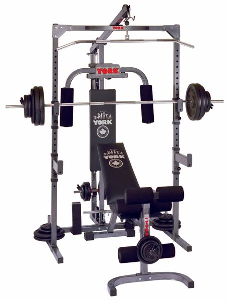 YORK BARBELL 3000 POWER STATION GYM, ITEM #5092