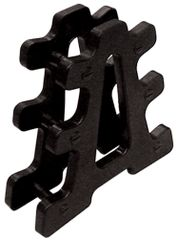 YORK BLACK VINYL DUMBELL TREE/ STAND/RACK, SMALL OR LARGE, ITEM 1259 & ITEM 1269