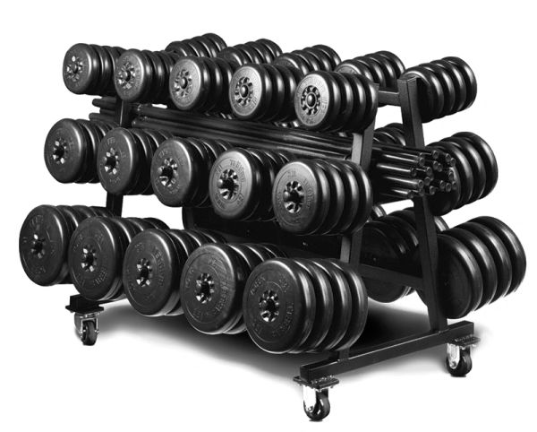 YORK , AEROBIC WEIGHT SET CLUB PACK/STAND/RACK ITEM 10170