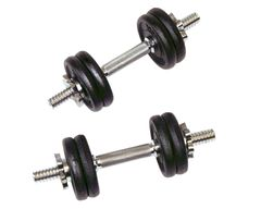 "YORK 1"" CAST IRON ADJUSTABLE SPINLOCK DUMBELL SETS,12KG, 22KG, 32KG, ITEM #2405, 2406, 2407"