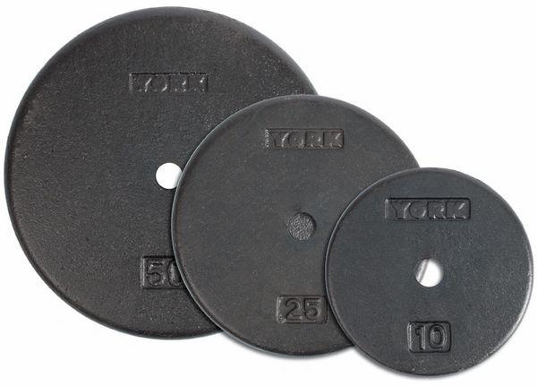 "YORK 1"" FLAT CAST IRON PRO PLATES, SIZES AVAILABLE, 1.25LB, 2.5LB, 5LB, 7.5LB, 10LB, 25LB, 50LB, 18 Feb Still available"