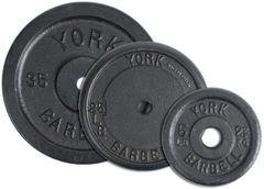 """YORK 1"""" CONTOUR CAST IRON PLATES, LB , 2.5LB, 10LB, 7.5LB, 10LB, 25LB, 50LB"""