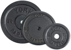 "York 1"" Contour Cast Iron Plate, KG, 1.25KG, 2.5KG, 5KG, 7.5KG, 10KG, 7.5KG, 10KG, 15KG, 20KG, 25KG"
