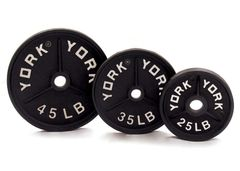 "YORK 2"" DEEP DISH OLYMPIC WEIGHT PLATES LB, 25LB, 35LB, 45LB, ITEM # 7363, 7364, 7365"