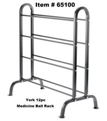YORK 12 PC MEDICINE BALL STORAGE RACK STAND ITEM 65100