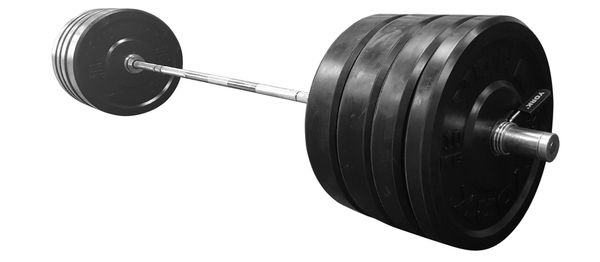 """YORK 300LB 2"""" INCH SOLID RUBBER TRAINING BUMPER PLATES & CAST IRON,COMBO, WITH 7', 45LB BAR, RATED FOR 1000LB, ITEM # 2896,15 June Now Available"""