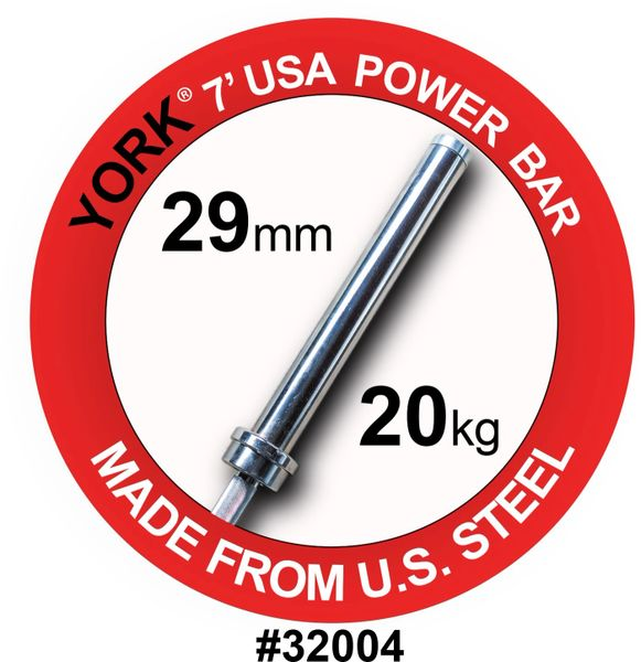 YORK BARBELL 7' MENS OLYMPIC ELITE POWER WEIGHT BAR-29MM, ITEM 32004, Now Available 28 july 2021, $379