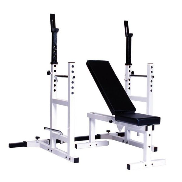 YORK PRO SERIES 209 WITH 205FI BENCH PLUS 204 SQUAT RACK CAGE ATTACHMENT, ITEM 4237, 21 Sept 2021, Now Available, $445