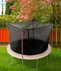 11' FOOT TRAMPOLINE & SAFETY NET ENCLOSURE COMBO, 6 LEGS ON BASE, 10 YR WARRANTY
