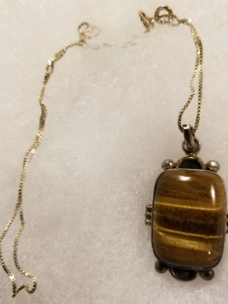 tiger eye in sterling silver