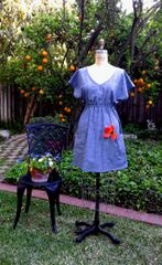 Tunic cotton chambray Garden Dress