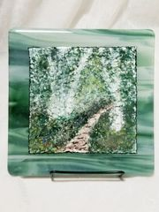 Fused glass Paintings: Birch Forest