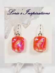 Dichroic Fused Glass Earrings: Summer Goddess