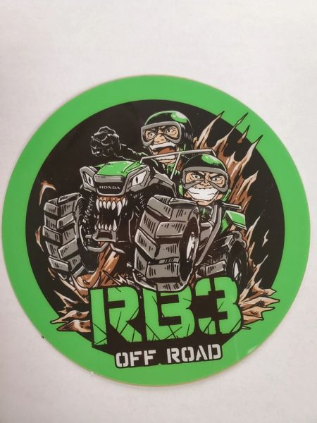 "RB3 decal 3"" round"